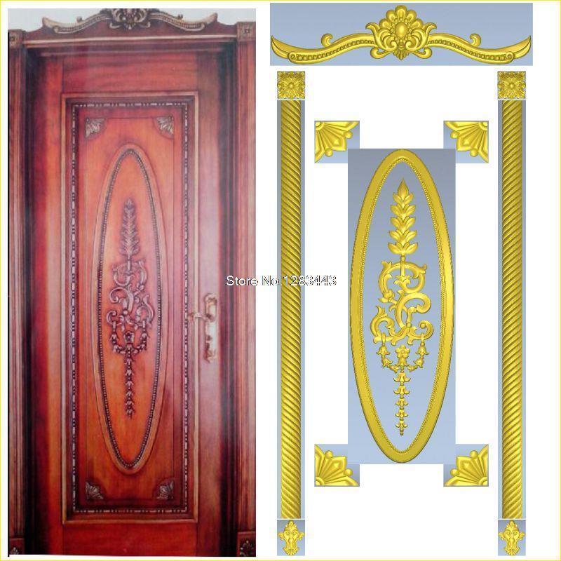 6pcs/lot Door_10 3D Model STL Relief For Cnc STL Format Furniture 3D STL Format Furniture Decoration