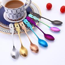 Нержавеющая сталь роза кофе сахар чай перемешивание ложка посуда Кухня поставка