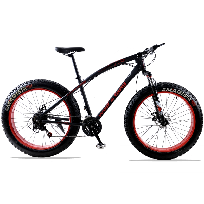 7/21 Speed Mountain Bike 26 X 4.0 bicycle fat bike road bicycles Spring Fork Front and Rear Mechanical Disc Brake road bicycles 1 pair mountain road bike hydraulic brake kit 750 1350 mm mtb bicycle over 395 447 oil disc brake set front and rear bike parts