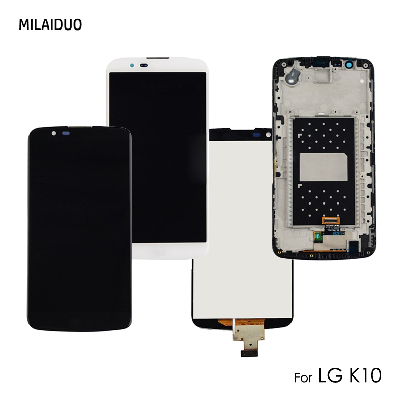 Original LCD Display For LG K10 K430N K430 K430DS K428 K420 K410 Touch Screen Digitizer Replacement Black White With Frame 5.3Original LCD Display For LG K10 K430N K430 K430DS K428 K420 K410 Touch Screen Digitizer Replacement Black White With Frame 5.3