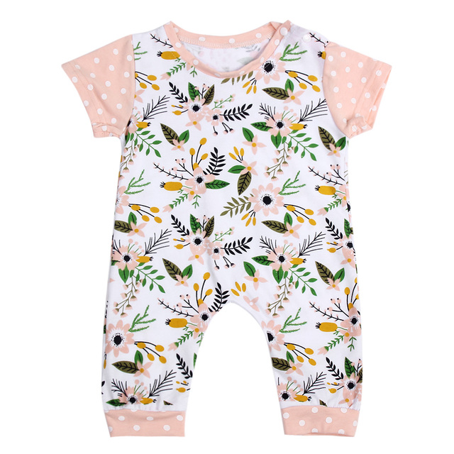 f529e3c170d5 Baby Clothing New Baby Girl Newborn Clothes Romper Short Sleeve ...