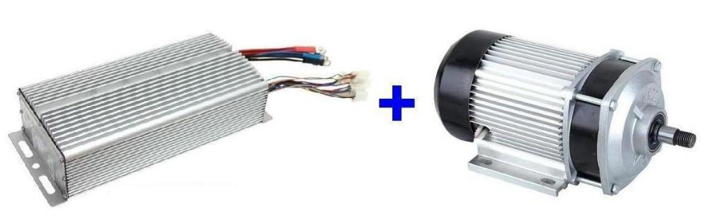 Fast Shipping 1200W 60V DC 24 mofset 1pc brushless motor 1pc controller E bike electric font