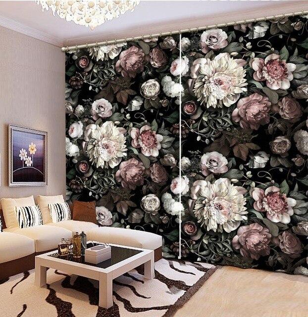 Charmant Retro Schöne Blume Vorhänge Für Fenster Neues Klassische 3D Wohnzimmer  Schlafzimmer Vorhänge Dekoration Foto Vorhang Vorhänge