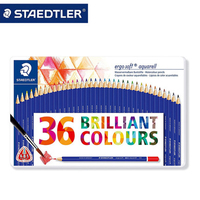 STAEDTLER 156 M36 36 color Water soluble Colored Pencils set for Tin box packing for Children Artist Art School Supplies