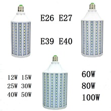 LED Corn Bulb 12W 15W 25W 30W 40W 50W 60W 80W 100W E26 E27 B22 E39 E40 CFL lamp Spot light Candle Chandelier For Indoor lighting free shipping 40w 50w 60w 70w 80w 90w 110w led bubble ball bulb cool white led e27 e40 base low power low heat