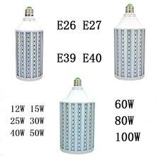 LED Corn Bulb 12W 15W 25W 30W 40W 50W 60W 80W 100W E26 E27 B22 E39 E40 CFL lamp Spot light Candle Chandelier For Indoor lighting стоимость