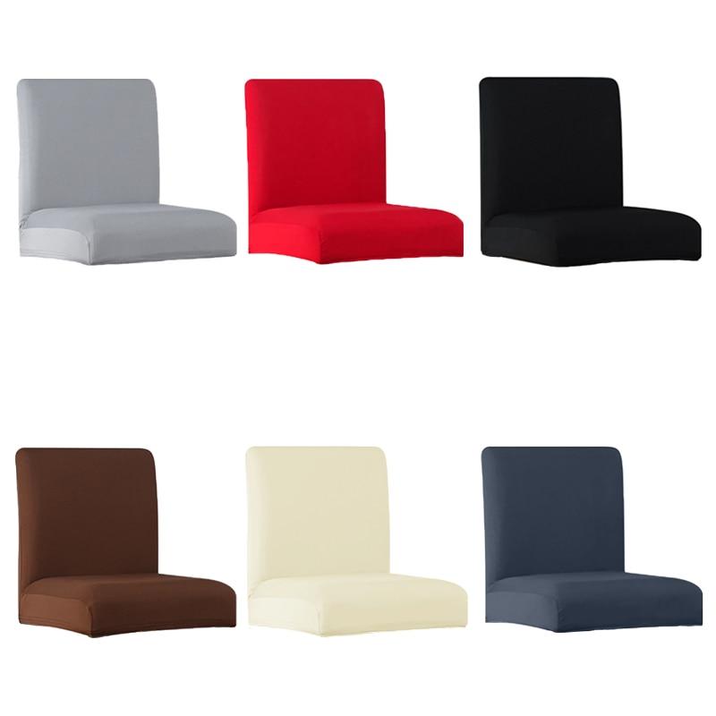 Lellen cor pura barra de estiramento cadeira capa de assento capas slipcover hotel banquete jantar housse de chaise poltrona natal casa