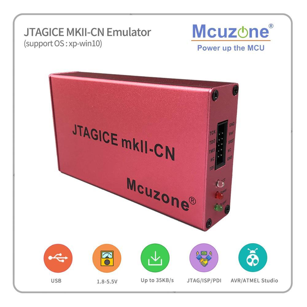 ATXMEGA PDI JTAG DEBUGWIRE Emulator free xmega32d4 min board 1pcs per order JTAGICE MKII CN emulator