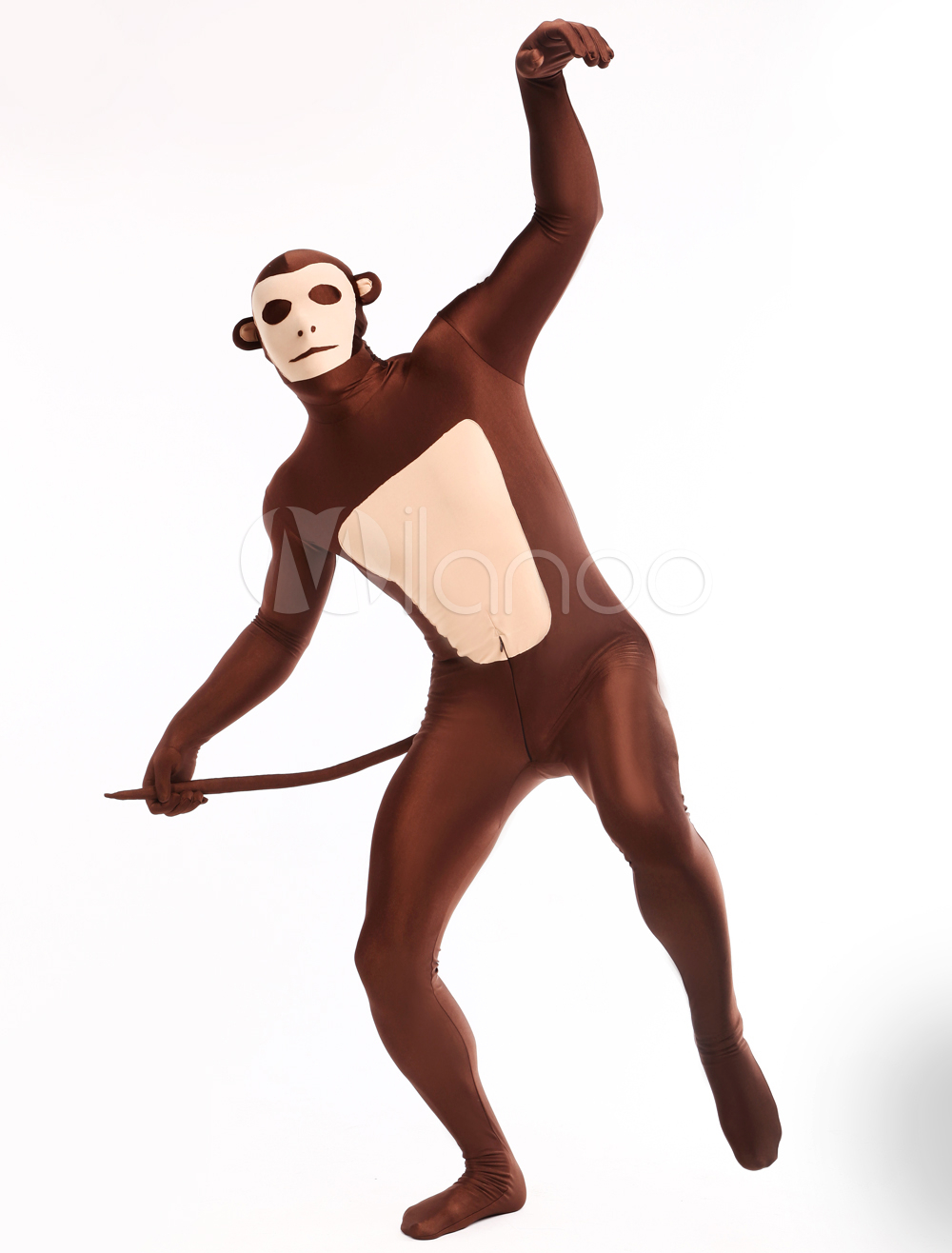 High Quality Halloween Carnival Party Unisex Monkey Pattern Full Body Animal Zentai Suit