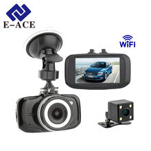 E-ACE Mini Dvr Car Out Video Recorder Camera Full HD 1080P Wifi Dashcam Dual Camera Portable Recorder Camcerder Led Night Vision