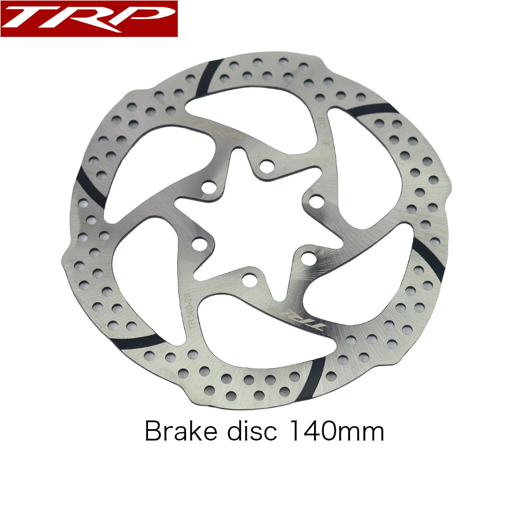 TRP Rotor 140mm/160mm/180mm for MTB Road Bike Disc Brake Spyre HY/RD Quadiem SPYRE-C Spyre SLC SPYKE, Silver with Screws