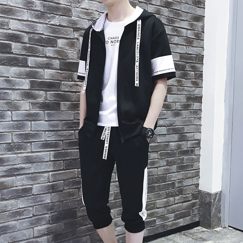 Soup Dream 2018 Spring Mens Hooded Two-piece Spring Sportswear New Fashion Shorts Shorts Hoodies Gloria+jeans Fortnite.