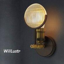 Винтажный газовый светильник, настенный светильник с линзами, светильник для кафе, бара, ресторана, гостиницы, отдыха, ретро металлический железный светильник в полоску, выпуклый
