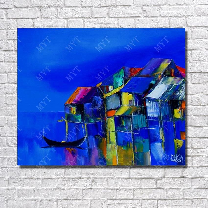 Us 897 31 Offev Ve Bahçeten Resim Ve Hatde El Yapımı Kolay Boya Resim Yağlıboya Yüksek Kaliteli El Boyalı Modern Manzara Duvar Sanatı Dekorasyon