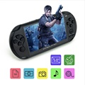 Free shipping Coolboy 5.0 inch X9 intelligence console handheld game MP3 MP4 and 3000games support download handheld console