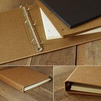 Neue A4 Großen größe Blank loseblatt notebook handgemalte graffiti handgemachte kraft DIY fotoalbum Handwerk Papier sets scrapbooking