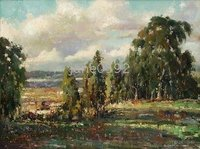 Landscape Tree oil paintings Professional Artist Hand Painted wholesale and dropship