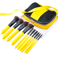 10PCS MSQ Soft Basic Face Brush Blending Eyeshadow Lip Make Up Professional Brush Kit Cosmetics Tool