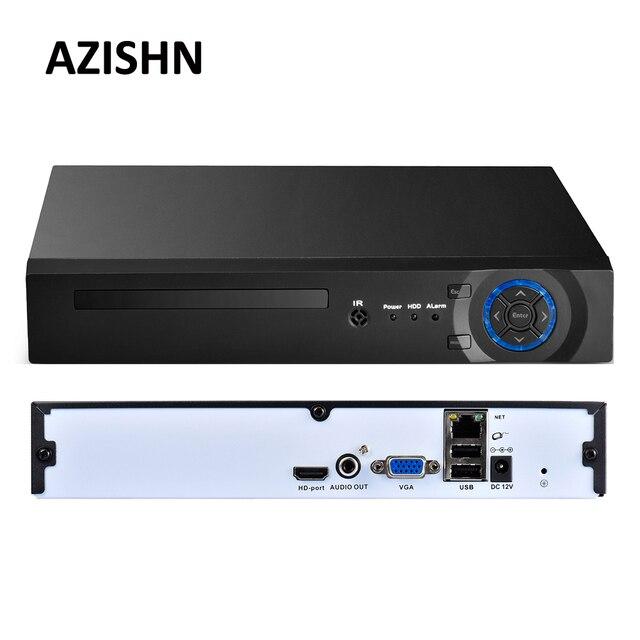 Azishn 8ch/16ch/32ch cctv nvr 4mp 5mp 1080 p 보안 h.265/h.264 네트워크 감시 비디오 레코더 hdmi vga ftp 3g xmeye