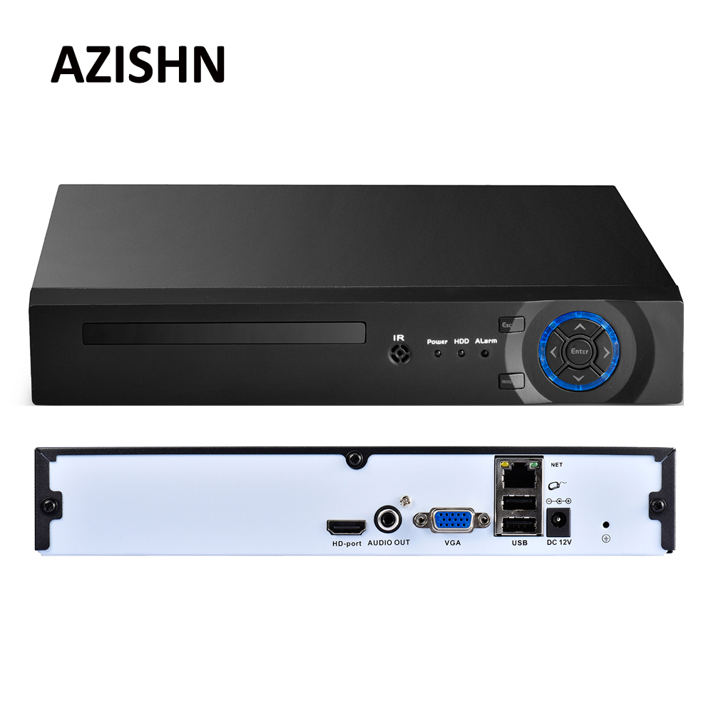 Azishn 8CH/16CH/32CH CCTV NVR 4MP 5MP 1080 P безопасности H.265/H.264 сети видеонаблюдения Регистраторы HDMI VGA FTP 3g xmeye