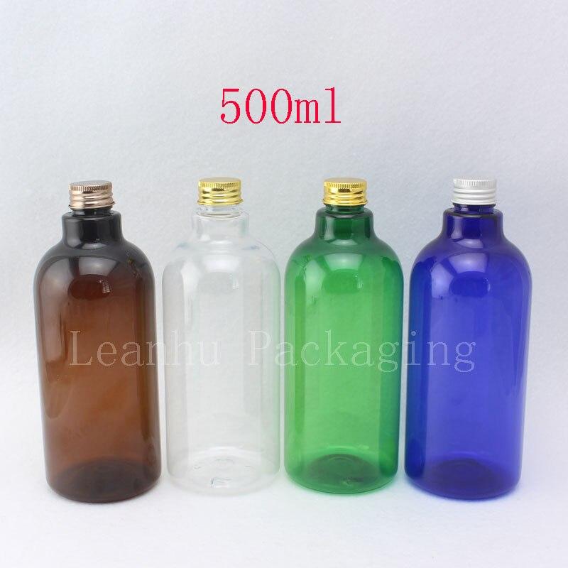 500 ML Blau Braun Transparent Grüne Plastikflasche 500CC Shampoo  Flüssigkeit Bad Soap Container Squeeze Make