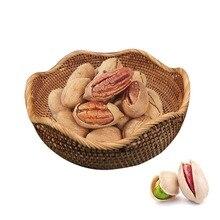 Круглый ручной работы плетёная ротанговая плетеная гайки плетеный узор чехол закуски конфеты лоток для хранения Контейнер-Корзина Коробка для хранения