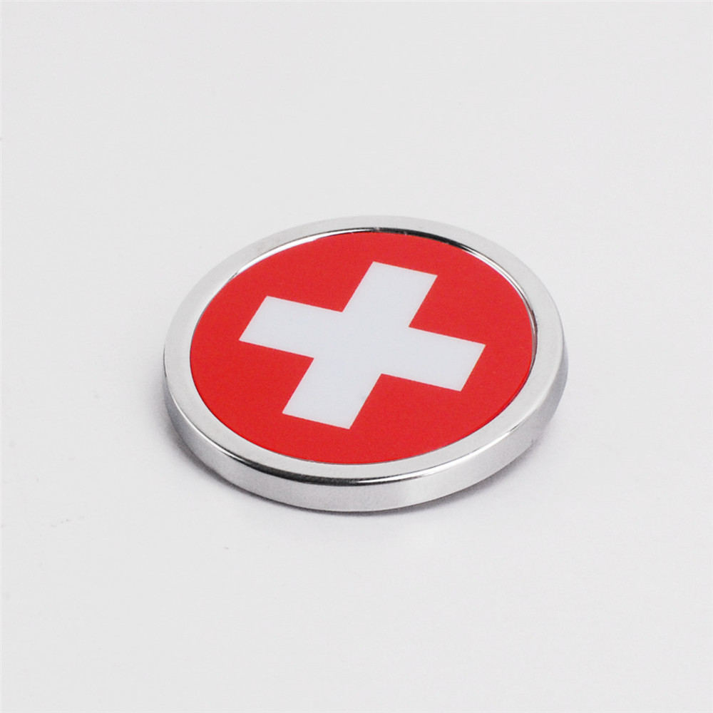 Car Stickers Swiss Flag Emblem Badge Decals Auto Accessories For VW BMW Mercedes Audi Renault Skoda Ford SEAT Toyota Fiat Opel 1set automobiles exhaust pipe modification car refitting for bmw vw audi opel ford renault toyota honda nissan lada mercedes kia