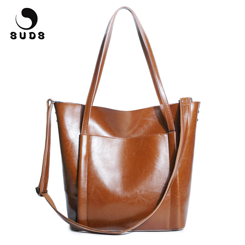 SUDS Brand Women Bag Genuine Leather Shoulder Bags Designer Handbags High Quality Female High Capacity Cow Leather Messenger Bag maihui designer handbags high quality shoulder crossbody bags for women messenger 2017 new fashion cow genuine leather hobos bag