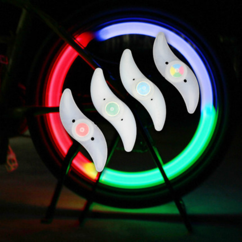 Bicycle Spokes Light Cycling Bike Led Light With Battery Safety Bicycle Wheel Lights Three Mode Bicycle Lights Bike Accessories