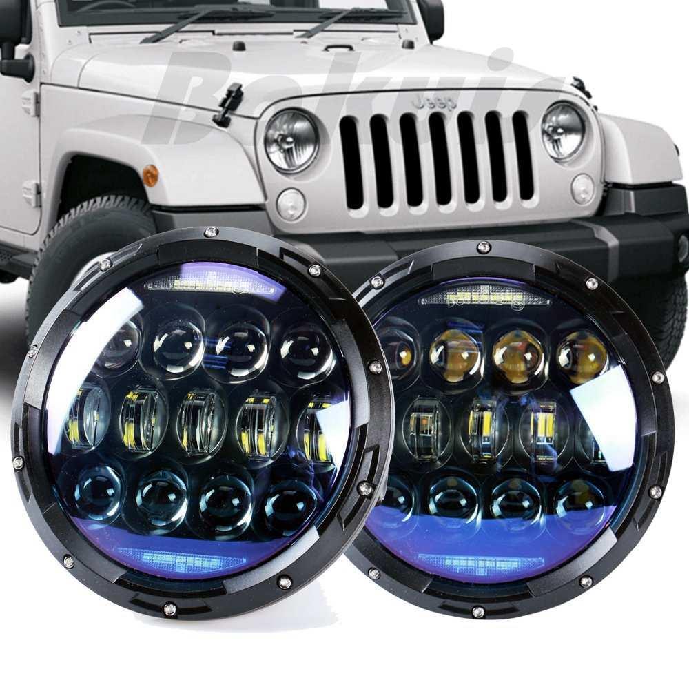 7 haute puissance ronde led phare Pour Land Rover 7 LED Projecteurs avec Ambre Clignotants Pour lada niva 4x4 Pour UAZ Hunter 130 w