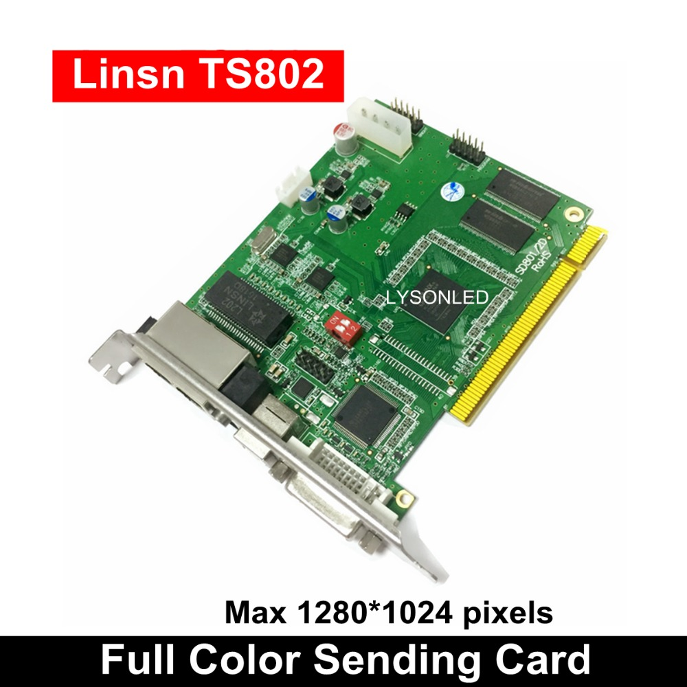 LINSN TS802D Sending Card , Full Color LED Video Display LINSN TS802 Sending Card Synchronous LED Video Card SD802