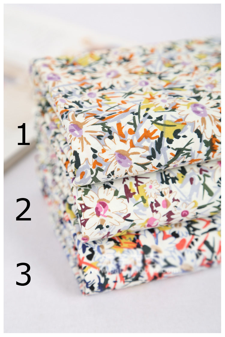 Новое поступление органический хлопок ткань немного качество цветок печатных материалов width-110cm 100% хлопкового текстиля для одевания одежда