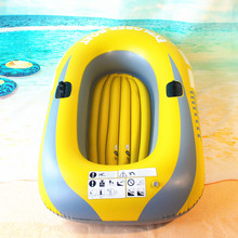Fishman Sports Inflatable Fishing Boat Raft PVC Canoe Dinghy Tender Durable 1/2 Person Kayak Fishing Boats Cushion Rowing Boats