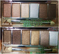 3D effect shiny pearly-lustre mixed with powder with brushes 6 colors  eyeshadow