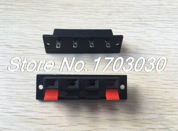 100 pcs WP Push Type Speaker Terminal Board Connector 64mmx17.6mm 4 pin WP4-7 30pcs molex 4 in 1 38pins sd card holder tray push push connector self push type