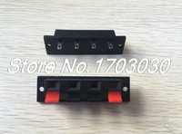 100 pcs WP Push Type Speaker Terminal Board Connector 64mmx17.6mm 4 pin WP4 7