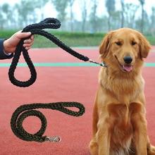 High Quality dourable black extra large big dog Braided nylo