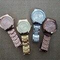 2017 Brand Relogio Feminino Female Coffee Stainless Steel Watch Ladies Fashion Casual Watch Quartz Wrist Women Watches