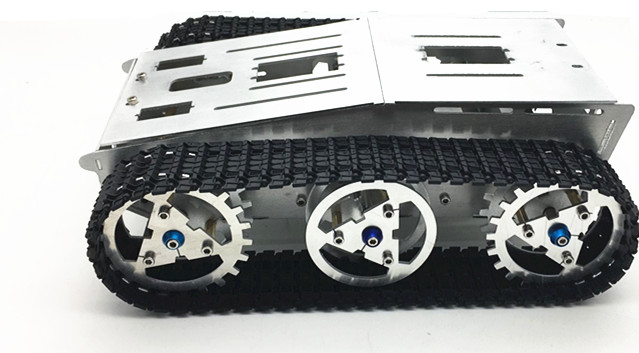 4WD Metal Tank Smart Crawler Robot Chassis Toy Car for DIY RC Robotic Vehicles Spare Parts F22503 cheap d2 1 smart robot car kits tracking car photosensitive robot kits parts for diy electric toy no battery