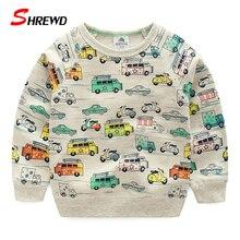 Boys T shirt 2017 Spring Autumn Fashion Cartoon Car Prinit Boy Sweatshirt Cute Long Sleeve Casual