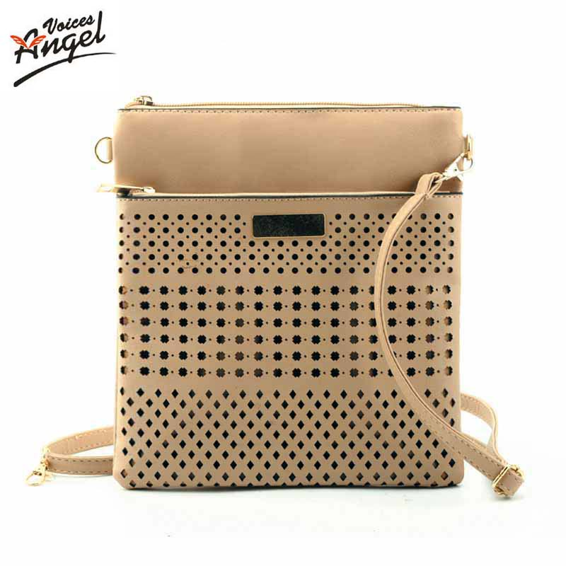 Hollow Out Small Leather Tote Bag 2017 Luxury Women Shoulder Crossbody Bags Fashion Women Bag Brand Handbag Bolsa Feminina Beige