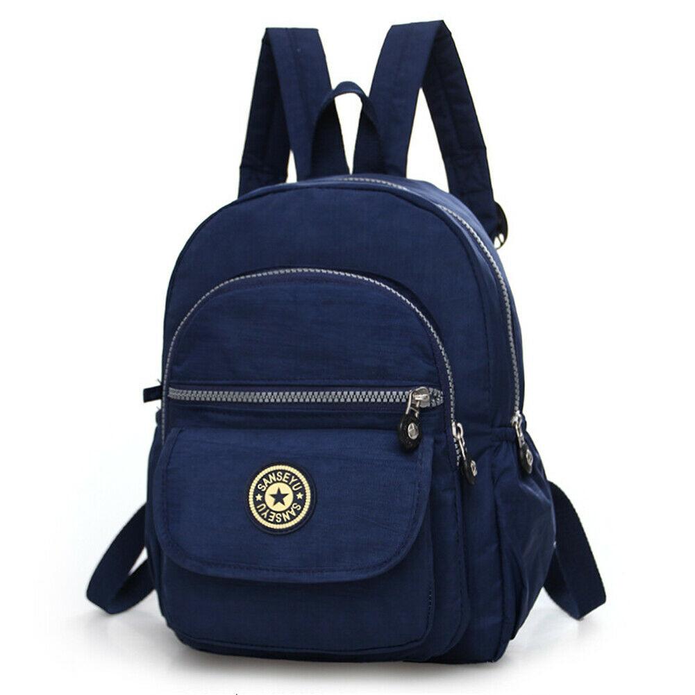 Повседневное женский рюкзак с защитой от краж с простой твердой колледж Стиль школьная сумка Мода Дорожная сумка для путешествий - Цвет: Navy Blue