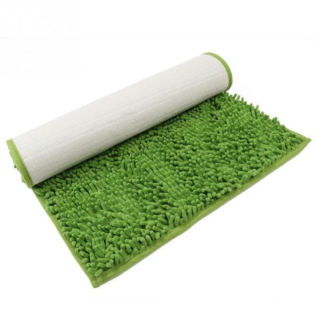 Non Slip Microfiber Shag Bath Mat Bathroom Mats Shower Rugs Super Soft Colorful
