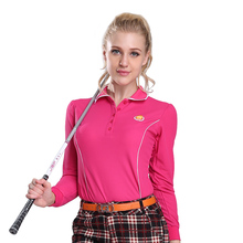 PGM Golf Polo Shirts Women's T Shirt Quick Dry Manche Longue Golf Femme Golf Long Sleeve Apparel Clothing Red Green White Sale