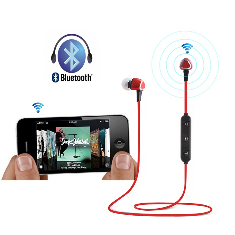 Metal Bluetooth 4.1 Sport Earphones Wire Headphones Headset Sports Magnetic Earbuds Mic for iPhone xiaomi K5