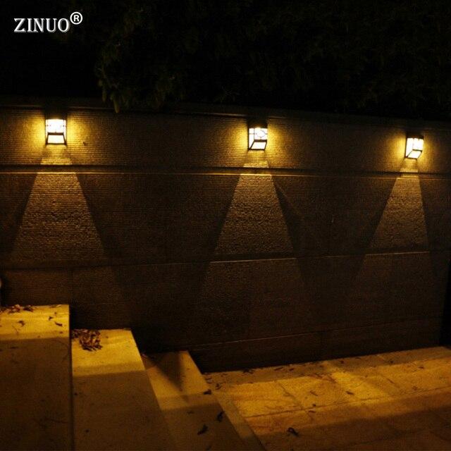 Zinuo3pcslot waterproof solar powered led wall lamps outdoor solar zinuo3pcslot waterproof solar powered led wall lamps outdoor solar led garden yard path fence aloadofball Images