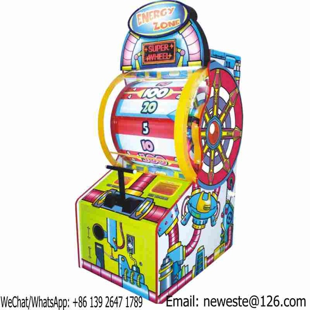 Energy Zone Wheel Of Fortune Coin Operated Arcade Lottery Tickets