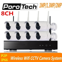8CH CCTV System 720P 960P 1080P Wireless NVR kit outdoor indoor IR Night Vision P2P IP wifi Camera Security Surveillance System