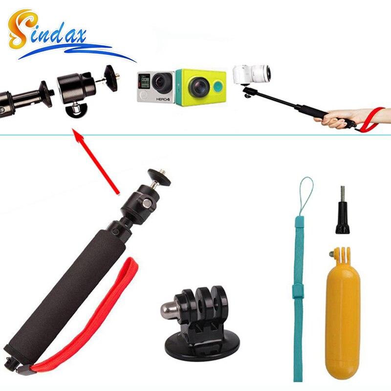 buy for gopro xiaomi yi 4k waterproof monopod selfie stick f. Black Bedroom Furniture Sets. Home Design Ideas