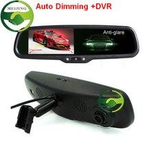 """Hd1080p 4.3 """" Car DVR Monitor del espejo con soporte Original ,, con atenuación automática espejo retrovisor del coche Monitor de aparcamiento"""